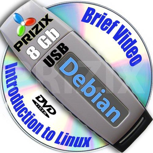 Debian 7 sulla 8GB USB Flash e completa a 3 dischi DVD di installazione e Set di riferimento, a 32 e 64 bit