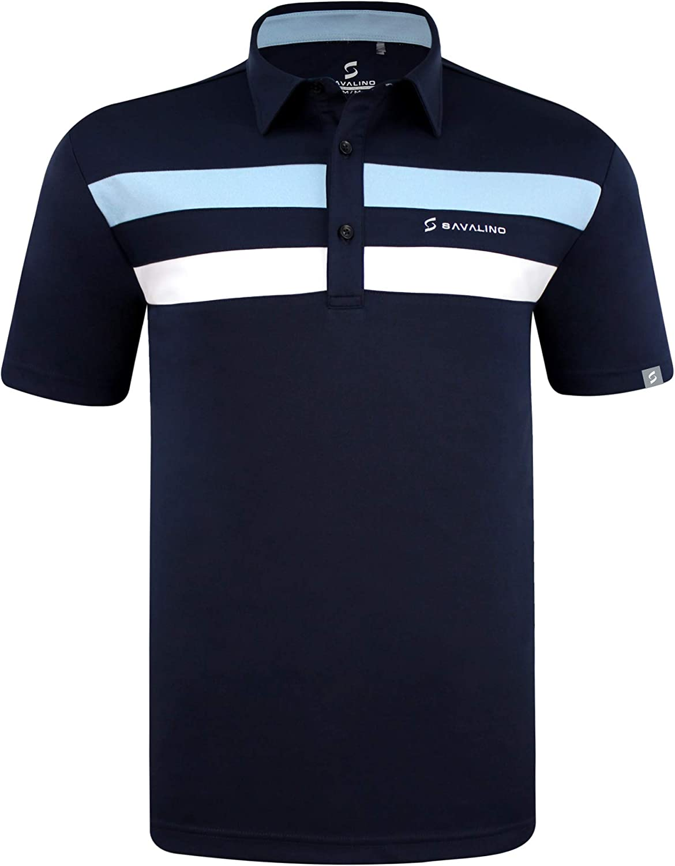 SAVALINO Men's Dallas Mall Polo Shirts Material Wicks Si Fast Dries Brand Cheap Sale Venue Sweat
