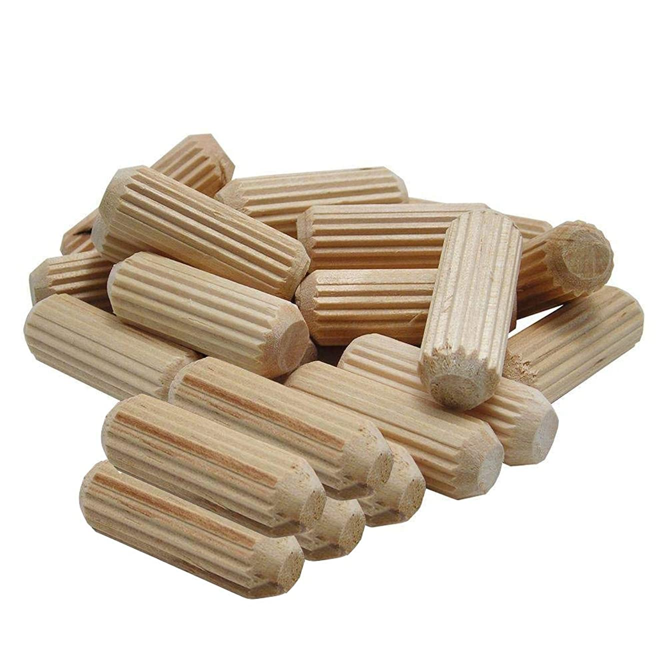 Saim Wooden Dowel 120 Pack 10mm x 40mm for Wood Craft Supplies DIY Projects Hardwood Dowel Sticks for Manual Creative Woodworking Wooden Stick for Fixing (120 Pack)