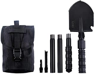 IUNIO Military Portable Folding Shovel and Pickax with Tactical Waist Pack Army Surplus..