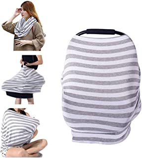 PPOGOO Nursing Cover for Breastfeeding Super Soft Cotton Multi Use for Baby Car Seat..