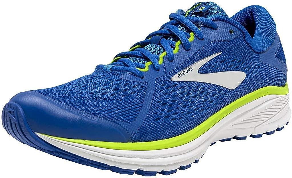 Brooks Mens Running Shoes Multicolour Ebony Lime Punch White 095