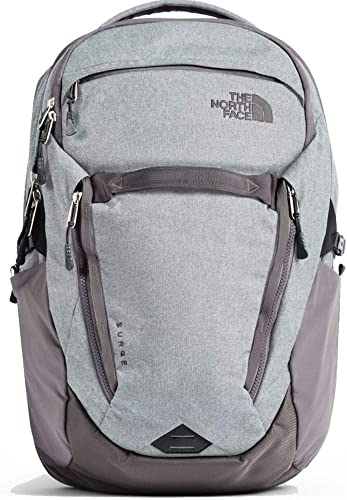 The North Face Wohommes Surge Laptop Backpack (Heather Rabbit gris)
