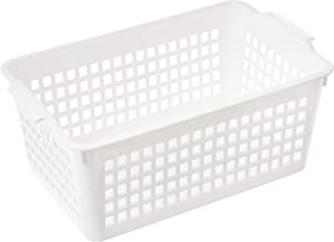 Inomata 4515 Windy Wide Basket, White