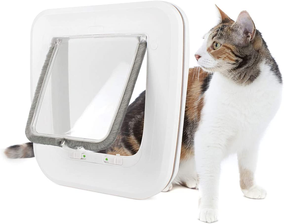 NAMSAN Pet Cat Door - 4 Locking Flap fo Ranking integrated 1st place with Window Way Financial sales sale