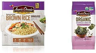 Annie Chun's Cooked Sprouted Brown Rice & Seaweed Snack, Sea Salt & Vinegar Flavored (Bundle)
