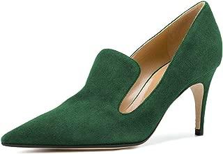 YDN Womens YN8019670D Pointed Toe Thin Mid Heel Loafer Pumps