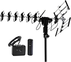 $64 » FiveStar Outdoor HD TV Antenna 2019 Newest Model Up to 200 Miles Long Range with Motorized 360 Degree Rotation, UHF/VHF/FM Radio with Infrared Remote Control Advanced Design