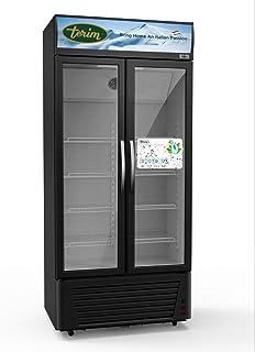 Terim 600 Liters Free Standing Double Door Chiller, Black, TERSC600W, 1 Year Warranty