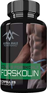 Alpha Male Pure Forskolin Extract (60 Capsules) - 500mg - Best Coleus Forskohlii on The Market - Highest Grade Weight Loss Supplement for Men & Women