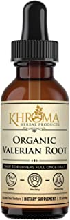 Organic Valerian Root - 2 oz Liquid in a Glass Bottle - 30 Maximum Strength Servings - Khroma Herbal Products