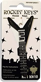 Black V Electric Guitar Shaped Rockin' Key Kwikset KW1 KW10
