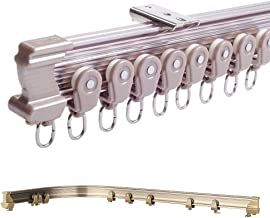 Brown Aluminum Metal Alloy Bendable Window Tracks Curtain Poles Ceiling Mount (100m Ceiling Mount)
