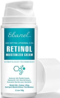 Retinol Cream 2.5% - 3.5 Oz, Anti Aging Face Cream with Hyaluronic Acid, Peptides, Vitamin C, E, B5, Aloe Vera, Shea Butter, Retinol Face Moisturizer Night Cream Anti Aging Cream Anti Wrinkle Cream