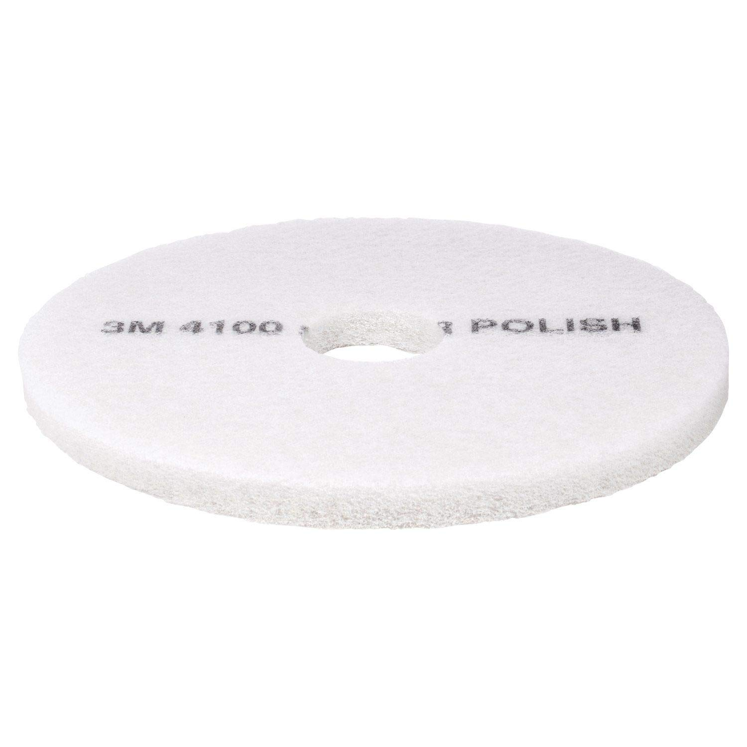 """New In Box 3M 27/"""" White Super Polishing Pads #4100 Pack of 5 Floor Buffer Pads"""
