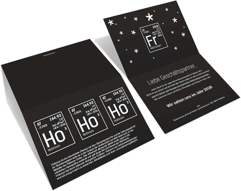 40 x x x Firmen Weihnachtskarten individuell Grußkarten Weihnachtsgrüße - Weihnachtschemie B07N2GRY9T  | Moderner Modus  13260f