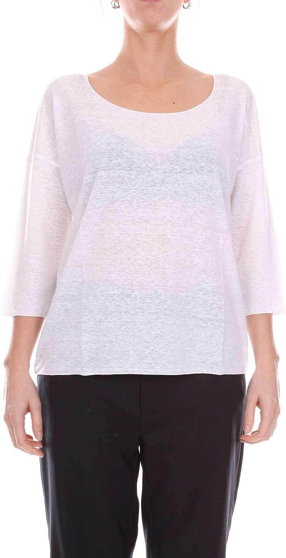 Cruciani Women's CDJLI2BA50WHITE White Linen Sweater