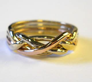 Ladies 4 Band Puzzle Ring Style 4T