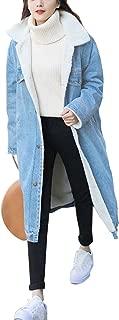 Women's Button Up Lapel Sherpa Fleece Lined Midi Long Oversized Overcoat