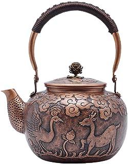 Théière Bouilloire en bronze, bouilloire, théière en relief, service à thé, pot de santé, thé bouilli, théière bouillie, t...