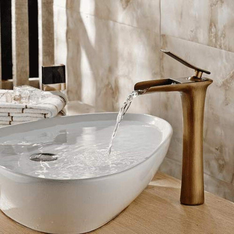 360 ° drehbarer Wasserhahn Retro Wasserhahn Mischbatterie Chrom Wei Wasserfall Wasserhahn