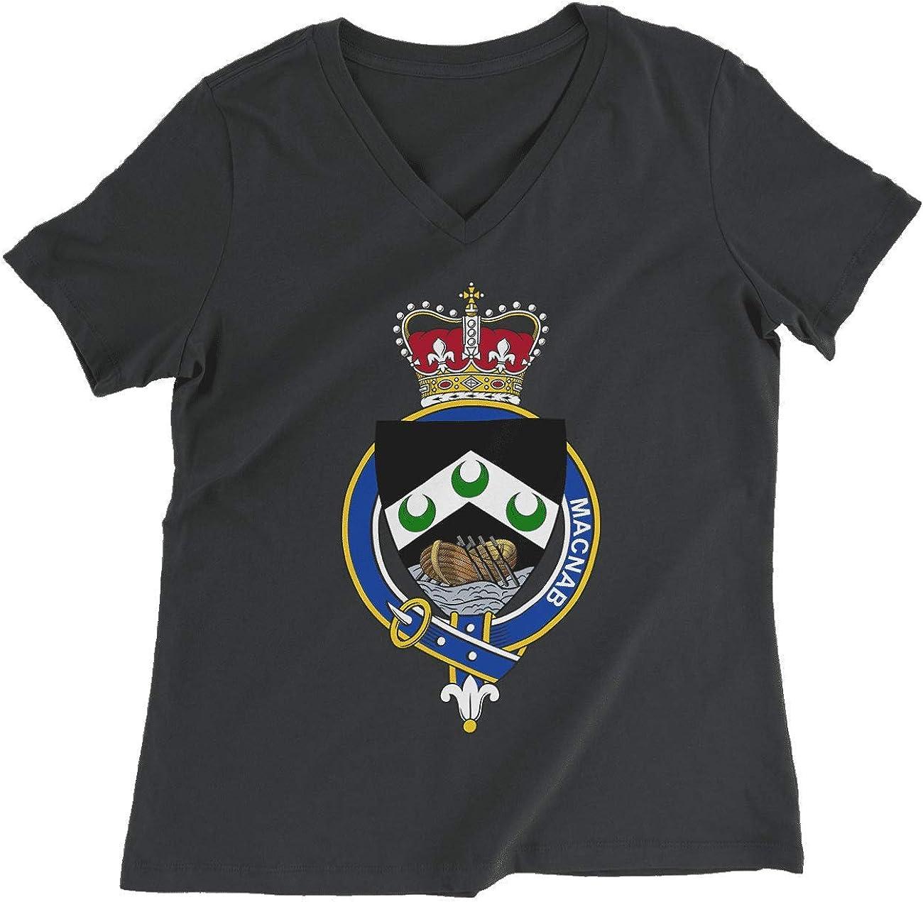 HARD EDGE DESIGN Women's Scottish Garter Family McNab T-Shirt