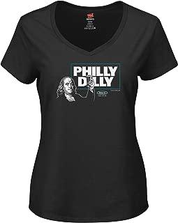 Smack Apparel Philadelphia Football Fans. Philly Dilly Black Ladies T-Shirt (Sm-2X)