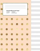 Standard Manuscript Paper: Peach & Gold Dots Blank Sheet Music (Notebook for Musicians)