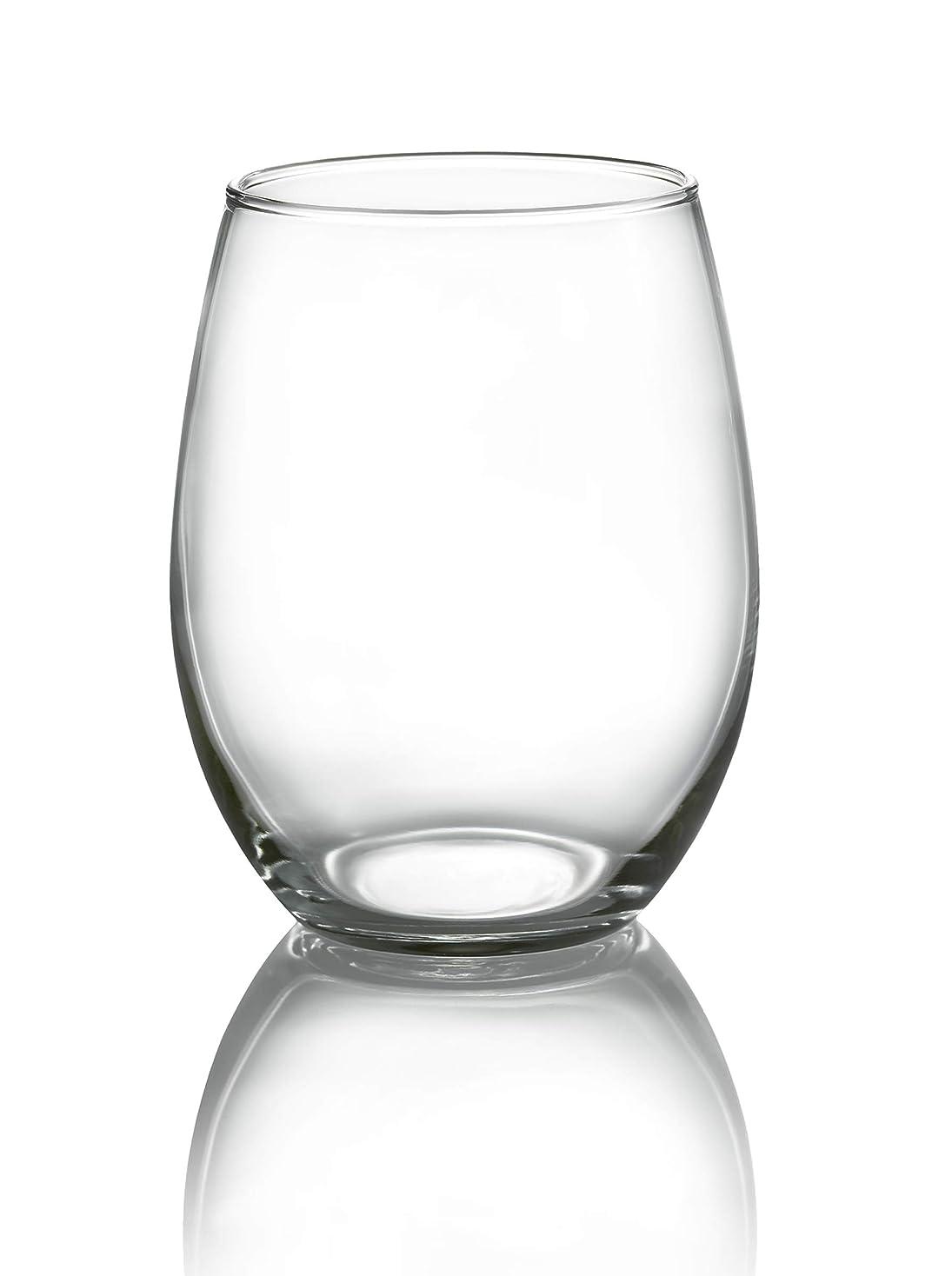 ぐったり涙こどもの宮殿Luminarc N7338 Lumincar Cachet ステムレス 21オンス ワイングラス 4個セット クリア