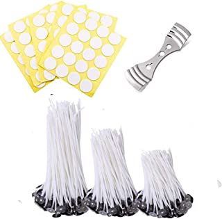 White Healifty 160pcs Candle Wick Stickers Heat Resistance Double Sided Adhesive Sticky Dots Decals for DIY Candle Making Supplies