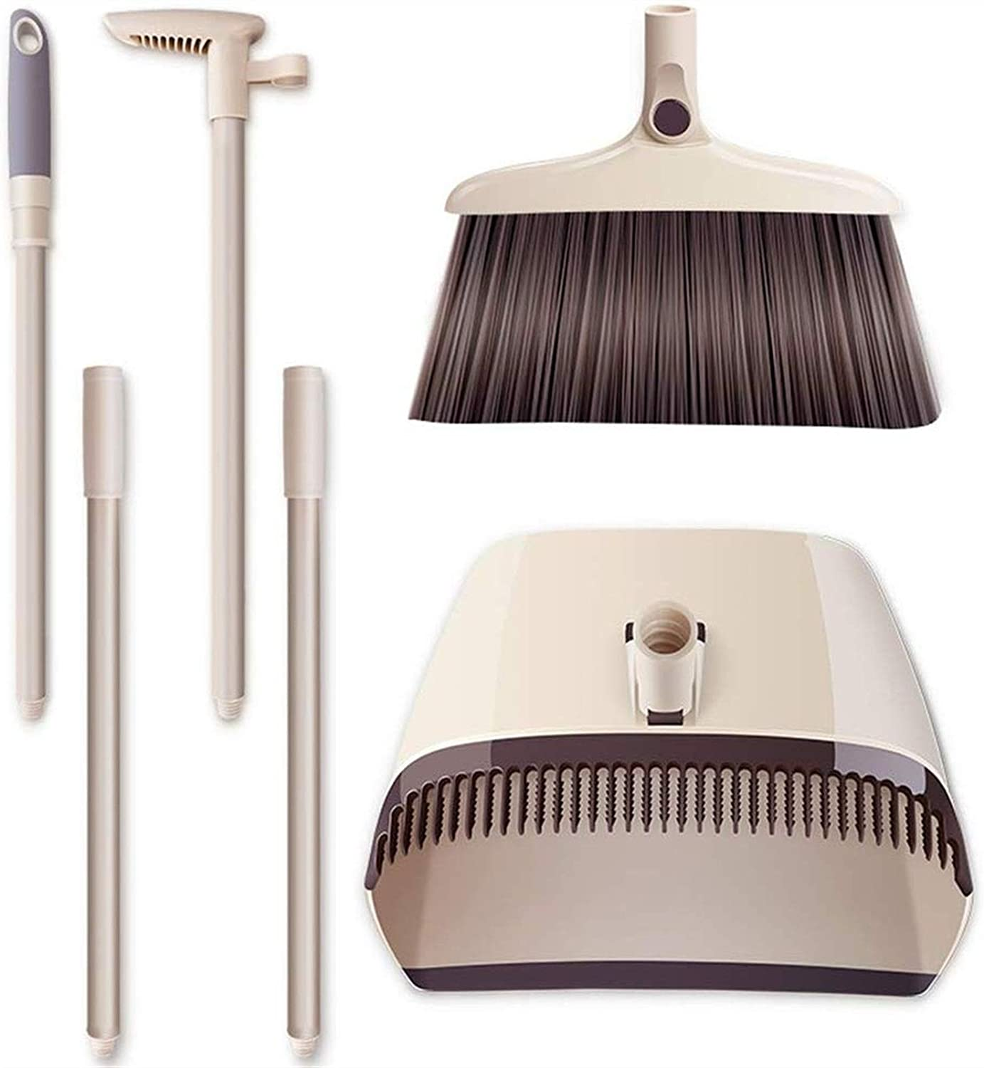 Luxury goods HIZLJJ Broom and Lobby Year-end annual account Dustpan Upright Set Sweep Grips Standing