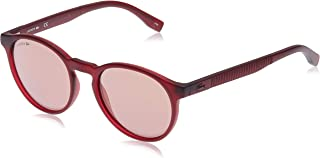 Lacoste Round Sport Inspired Transparent Cyclamen Women's Sunglasses Pink