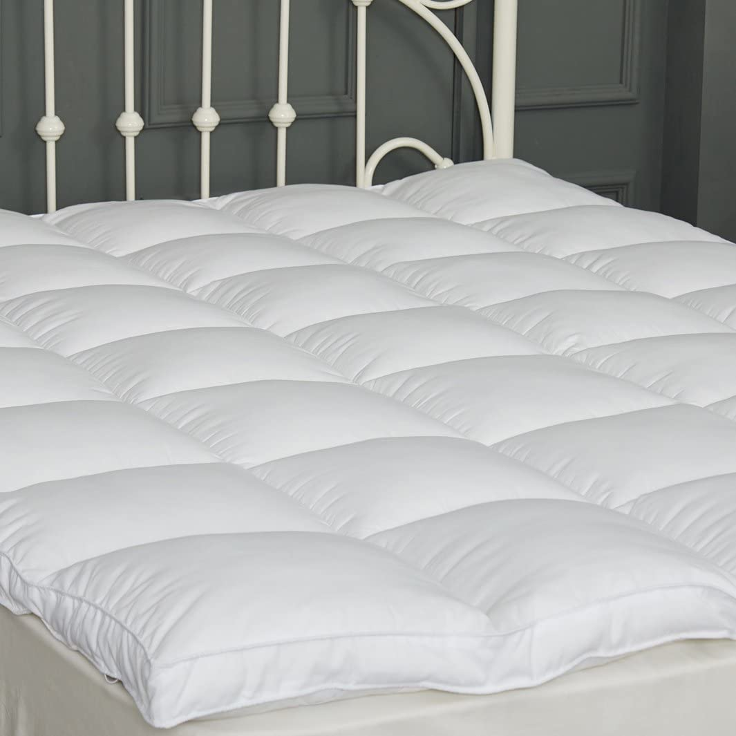 sufuee mattress topper twin down alternative mattress pad 2 extra thick mattress cover overfilled fluffy and firm pillow top
