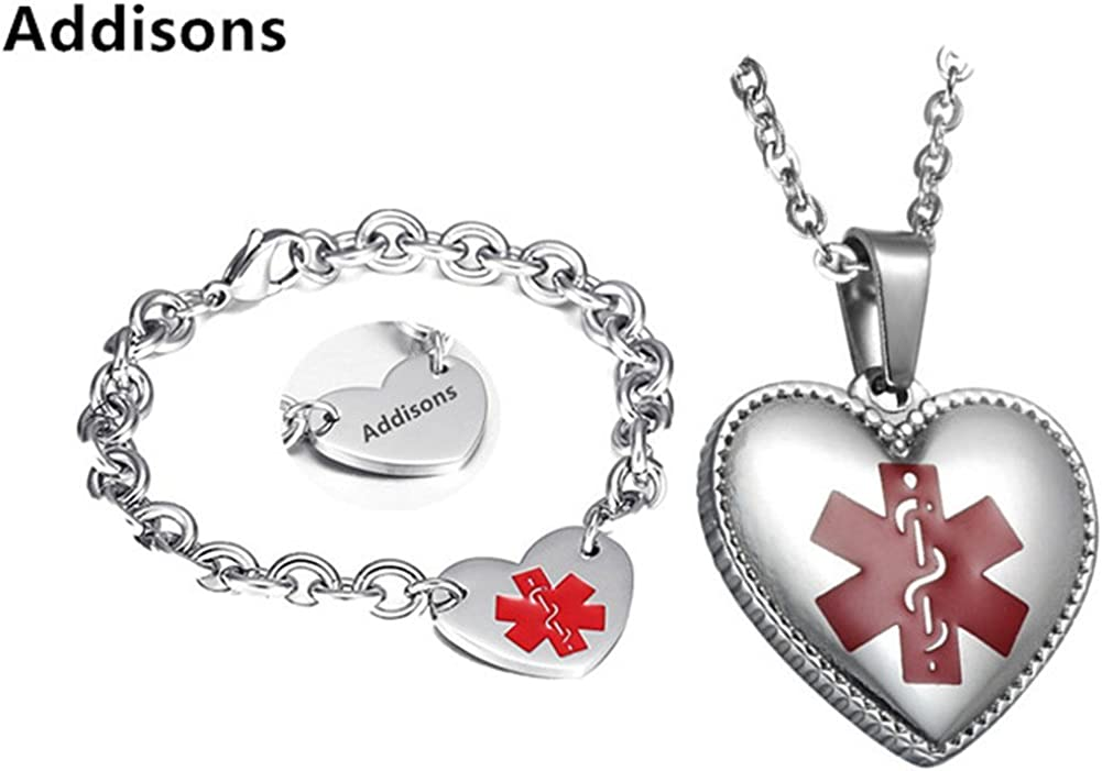 LF Stainless Popular overseas Steel Free Engraving Heart Max 47% OFF Alert Tag ID Medical Pen