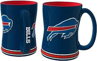 NFL Sculpted Coffee Mug, 14 Ounces, Buffalo Bills