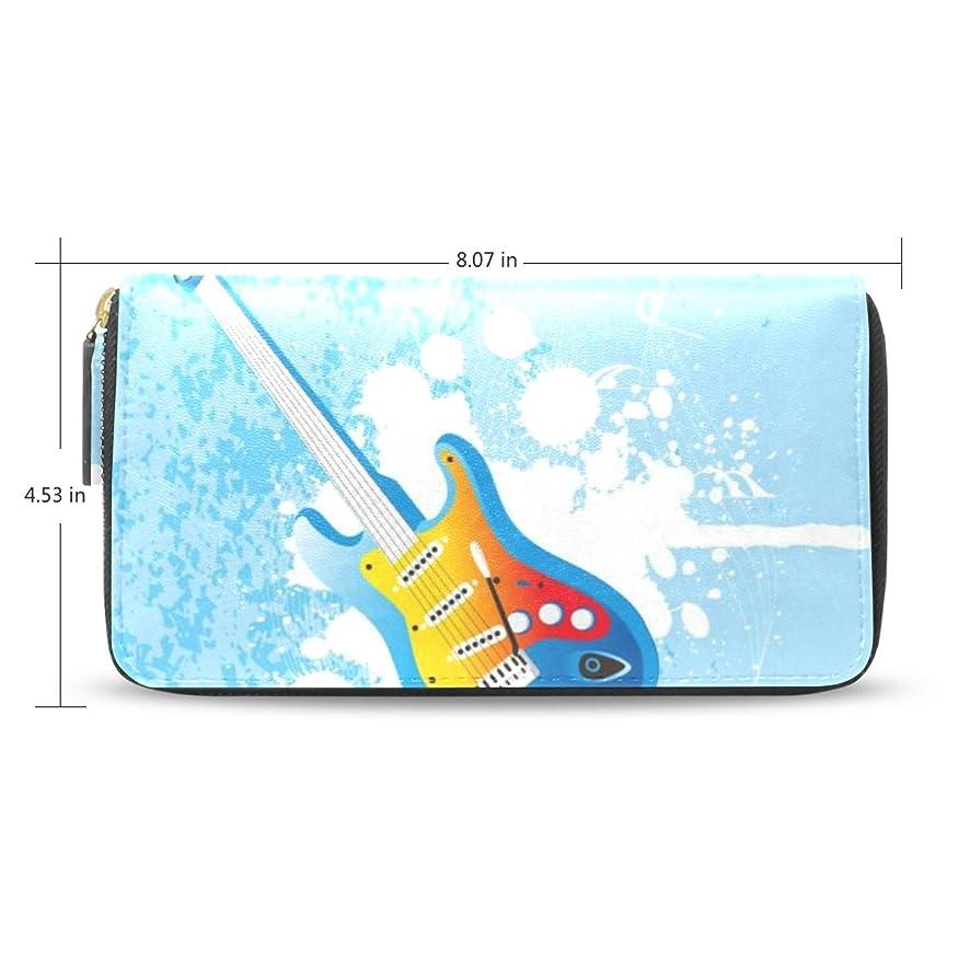 スプーン分離するたっぷりレディースギター音楽Flying Skyパターンパターンレザー長財布&財布ケースカードホルダー