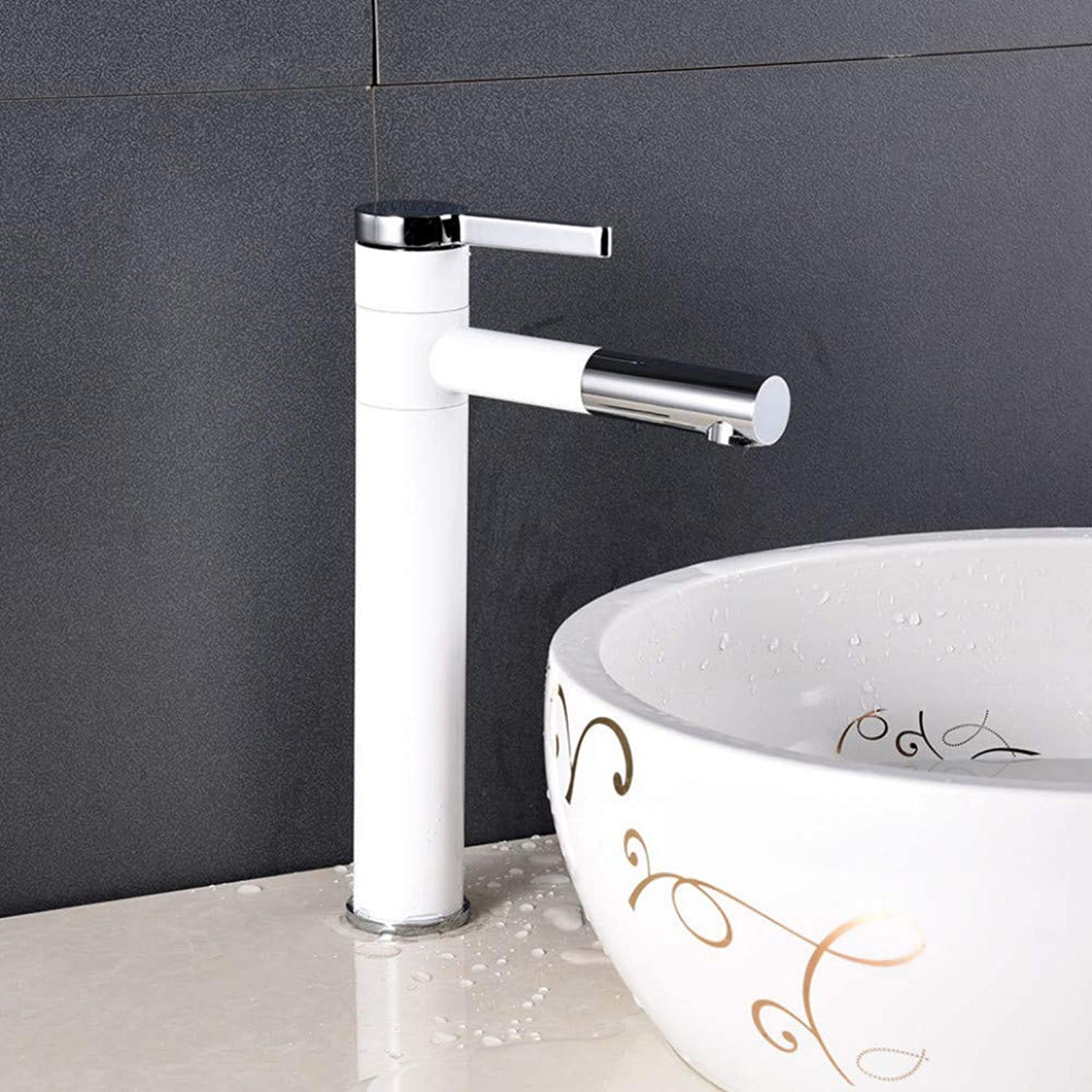 Faucet Paint Lavatory Faucet Bathroom Heightening wash Basin Faucet redating Faucet European hot and Cold Above Counter Basin Faucet