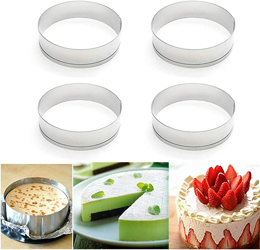 Happy Reunion Muffin Rings 4 X0 79 Egg Pancake Rings English Stainless Steel Tart Rings Pastry And Baking Tools For Making Donuts Biscuits Burgers Set Of 4 4 Pcs