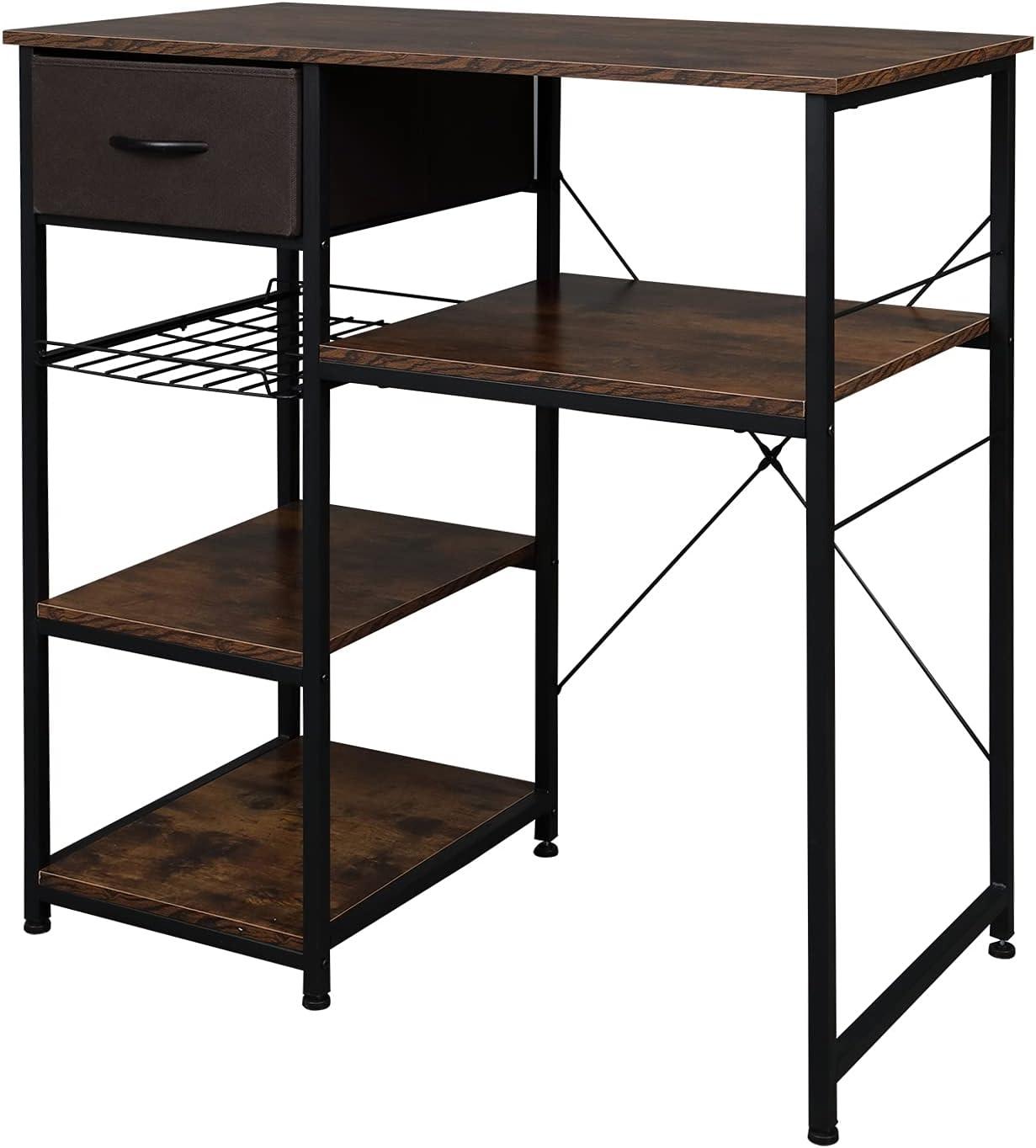 Industry No. 1 VINGLI Max 43% OFF Microwave Stand 4-Tiers Kitchen Mini Fit Storage B Fridge
