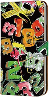 HUAWEI P20 Pro (HW-01K) PU手帳型 カードタイプ [キャンディロゴ・黒グリーン系] ロリポップ ペイント ピートゥエンティプロ スマホケース 携帯カバー [FFANY] lolipopo-143@05c