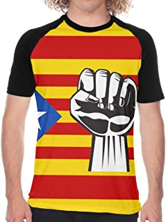 PAOMOZX Catalan Flag Shirt Men Tee Shirt Black