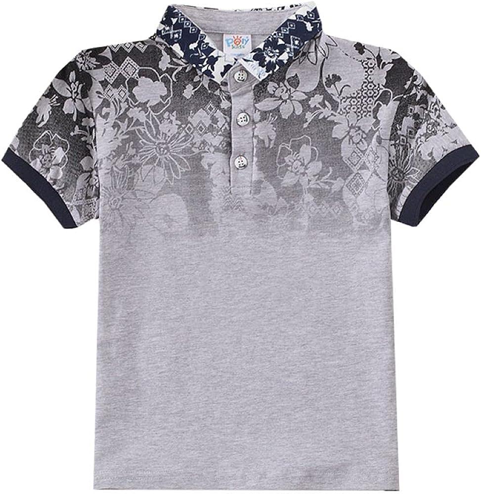 Boys' Short Sleeve Polo Shirt Cool Uniform Pique Polo Shirts for boy