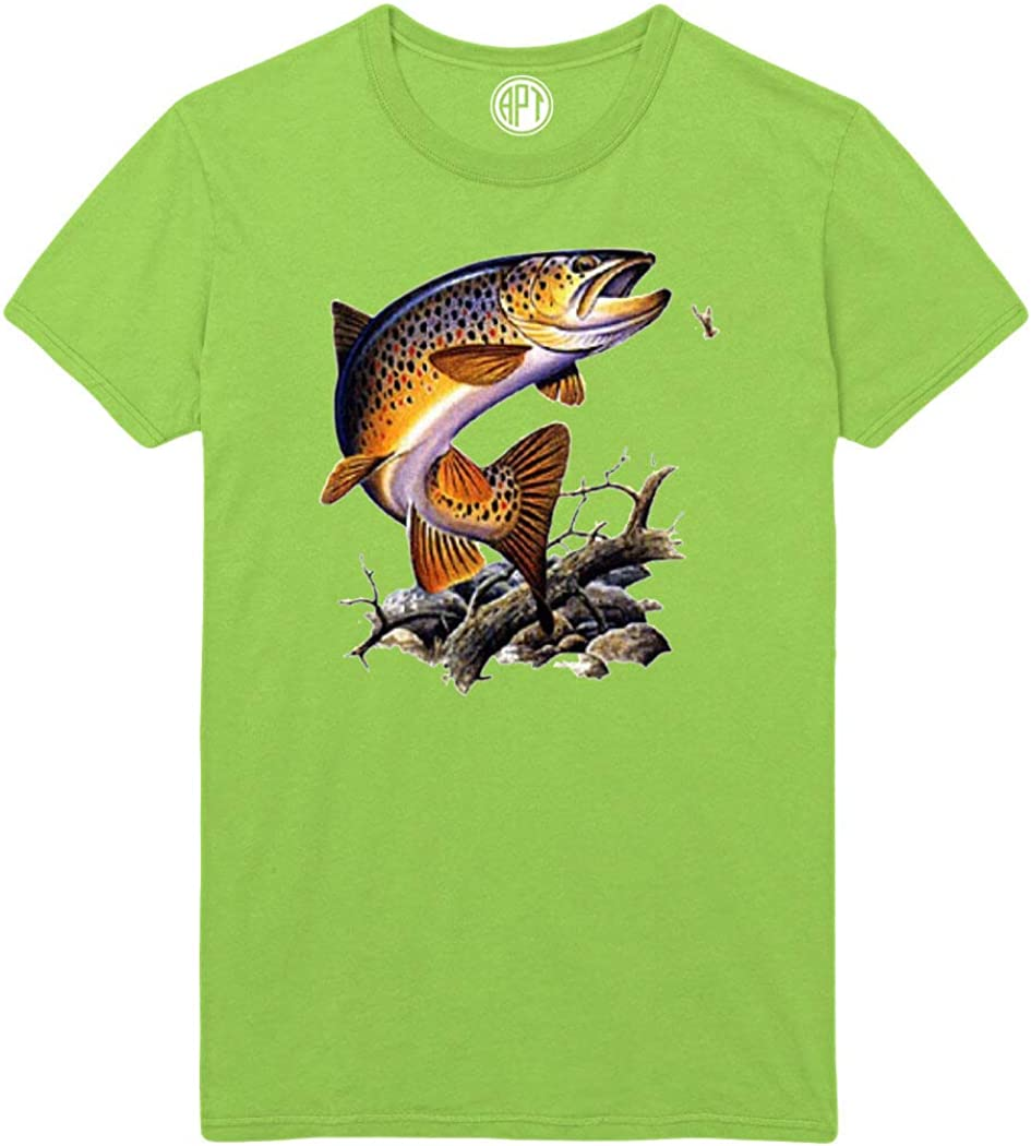 Brown Trout Printed T-Shirt