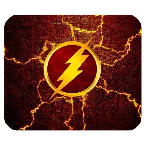 LeonardCustom- Personalized Rectangle Non-Slip Rubber Mousepad Gaming Mouse Pad / Mat- Marvel Superhero The Flash -LCMPV03