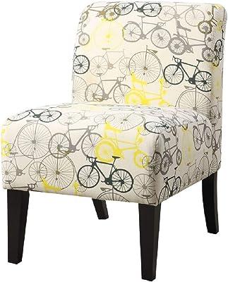 Amazon.com: Hebel Carson Medallion Armless Accent Chair ...