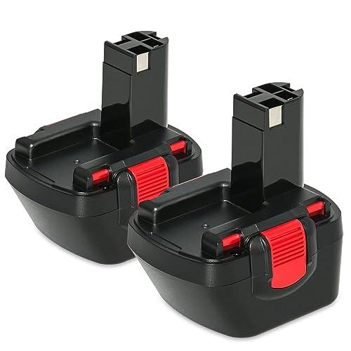 NeBatte 2x BAT043 12V 3,0 Ah Ni-MH pacchi batterie di ricambio 2 pezzi per Bosch BAT043 BAT045 BAT046 BAT049 BAT120 BAT139