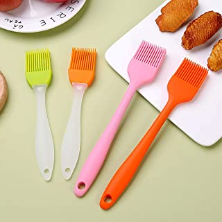Silicone Basting Brush, 4 Pack Heat Resistant Pastry Brush, Spread Oil Butter Sauce Marinades for BBQ Grill, Kitchen Oil B...