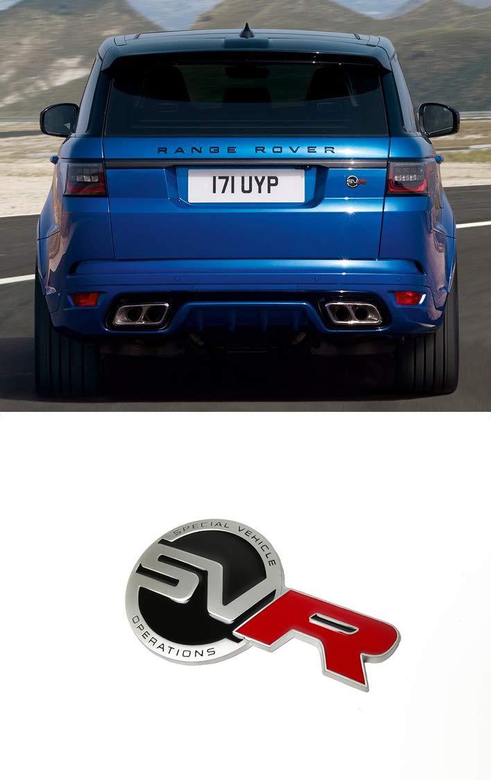New 1pcs SVR Metal Sticker Vehicle-logo Badge Emblem Range Rover Land Rover Available Luster