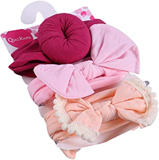 3Pcs Hairbands for Baby Girls Shusuen Floral Headband Elastic Bowknot Kids Headband Photography Sets