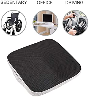 Tebery Large Memory Foam Seat Cushion/Chair Pad with Carry Handle Perfect for Office Chair and Wheelchair